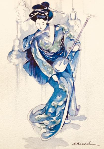 Blue Geisha  by Beverly Berwick