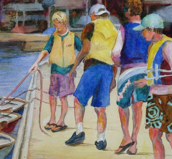 Summer Sailing study by Julie Anderson