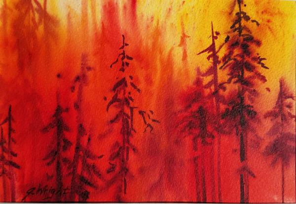 Honorable Mention Miniatures - Fiery Renewal by Jami Wright