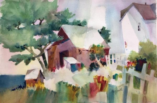 Mendocino Houses by Kay Smith