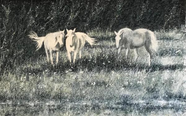 Mares in a Meadow by Rebecca McCullough