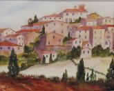 Tuscan Hill Town by Susan Wormsley
