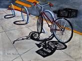 Bicycle and Shadows by Vykki Mende Gray