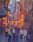 Third Place,  - Old Havana At Dusk by Ann Walker