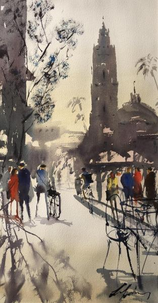 Second Place,  - Balboa Park Gathering by Luis Juarez