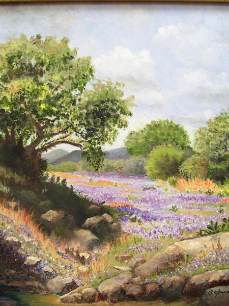 Texas Bluebonnet Spring by Shirley Elswick