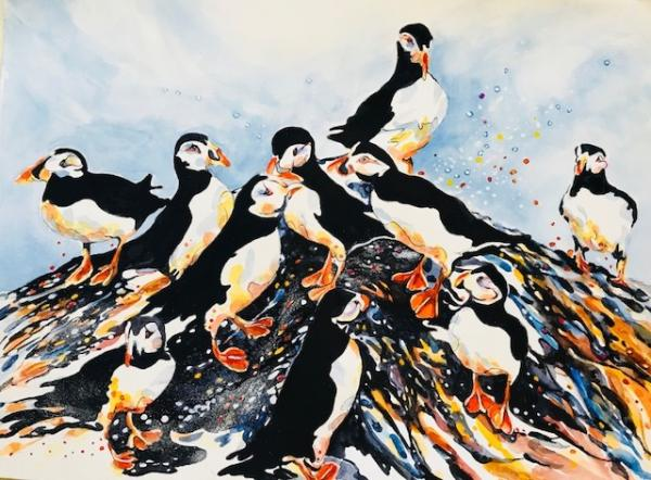 Afternoon on Puffin Island  by Beverly Berwick
