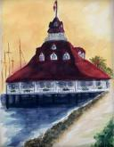 Boathouse on Coronado Bay by Catherine Somers