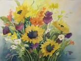 Fresh Fall Flowers by Joan McKasson