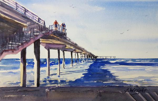 Ocean Beach Pier Shadows by Jami Wright