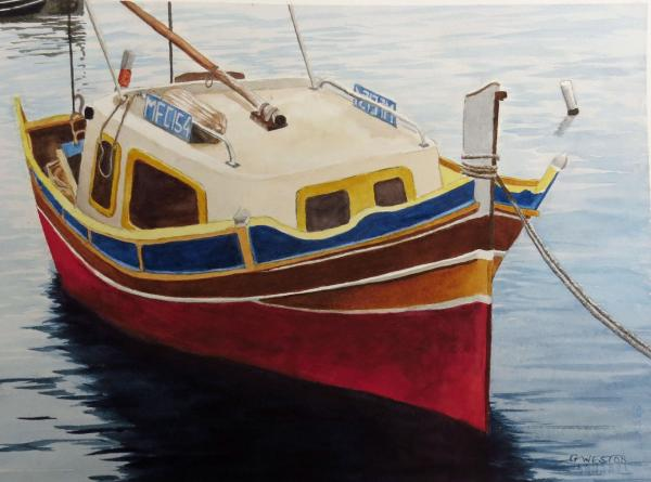 Maltese Fishing Boat by Gay Weston