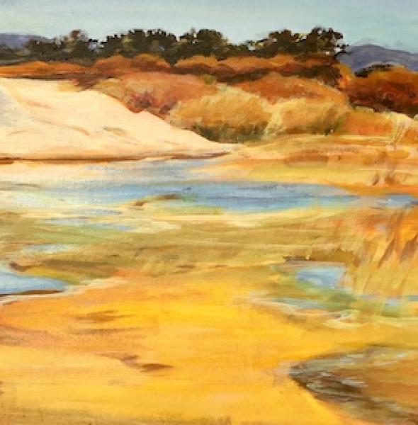Late Sun on the Lagoon by Joanne Newman