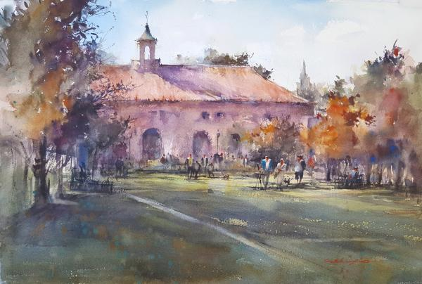 Autumn Weekend, Liberty Station by Shuang Li