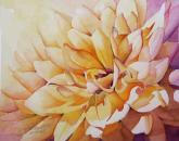 Yellow Dahlia by Linda Mullen