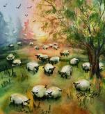 Counting Sheep VII by Lorri Lynch