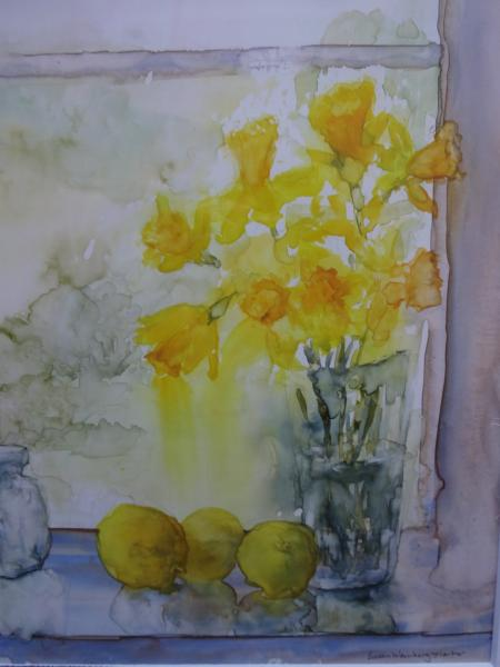 Best of Miniatures,  - Daffodils in the Window by Susan Weinberg-Harter