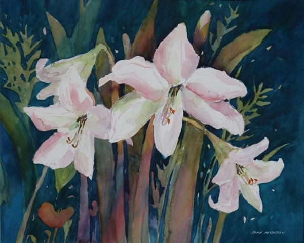 Moonlit Amaryllis by Joan McKasson