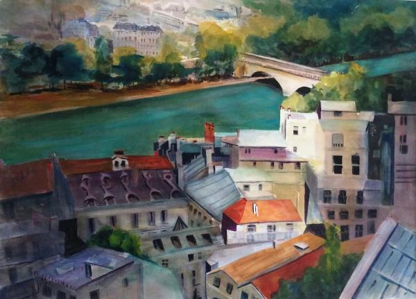 Honorable Mention,  - The Seine by Jane Riles