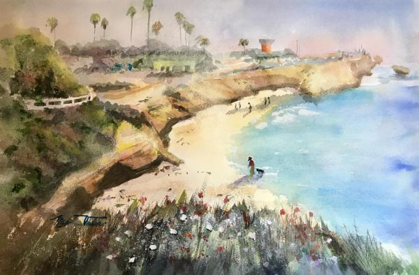 La Jolla Cove by Minnie Valero