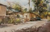 Honorable Mention Miniatures,  - Canyon Road, Santa Fe by Carol Carpenter