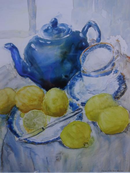 Best of Miniatures,  - Teapot Still Life by Susan Weinberg-Harter