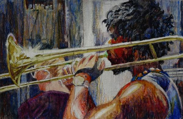 Street Music, study by Julie Anderson