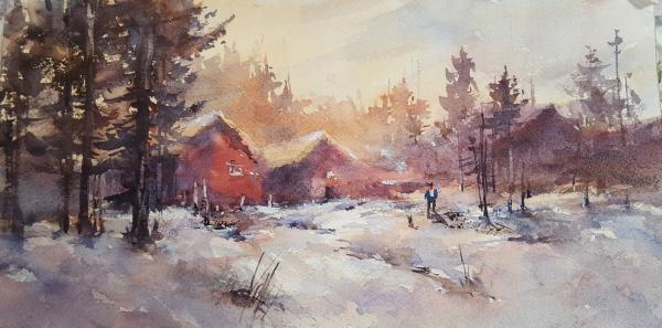 Red Cabins at Big Bear by Shuang Li