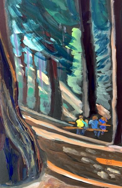 Picnic Under the Redwoods by Sarah Sullivan