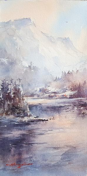 Snowy Lake, Big Bear by Shuang Li