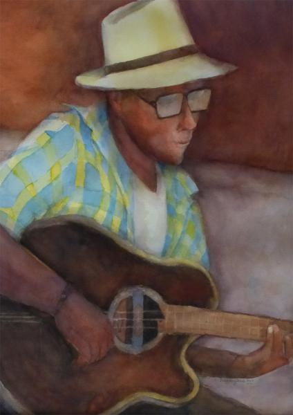 Cuban Musician by Patricia Dispenziere