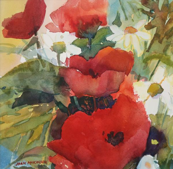 Red Poppies in the Garden by Joan McKasson