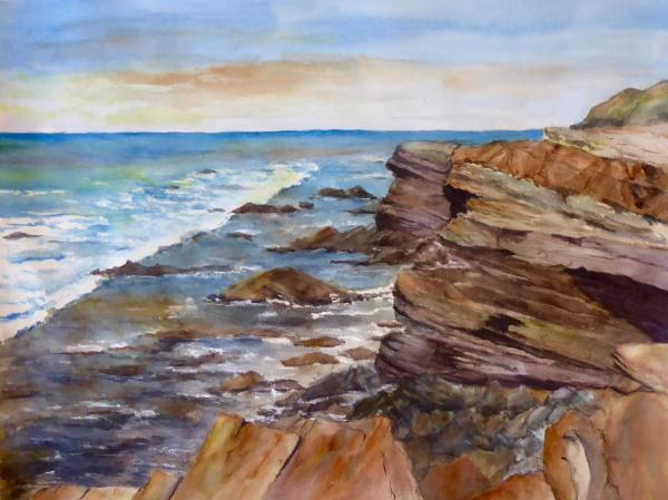 Honorable Mention,  - Cliffs at Cabrillo National Monument  by Linda Bienhoff