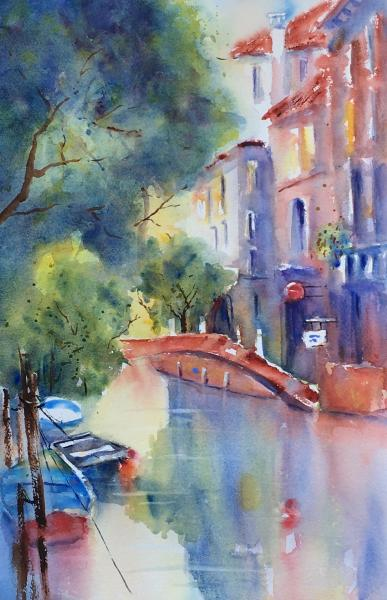 Quiet Canal Morning by Susanne Slater