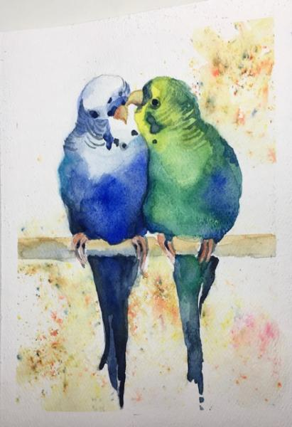Love Birds by Sylvia Smith