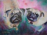 Love Pugs by Michelle Clark-Cadwell