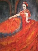 Flamenco Red by Michelle Clark-Caldwell