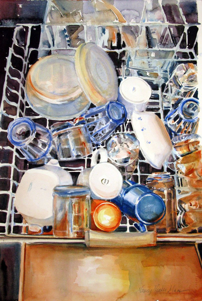 Dishwasher Topography by Nancy Maas