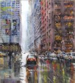Second Place - Rain Chicago by Bruce Swart