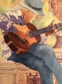 The Guitarist by Roz Oserin