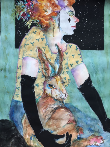 """Bonnie Woods, SDWS, """"Hare of the Moonless Sky""""   John and Donna Swink Award"""
