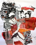 Layers No. 38 (Red & Black)