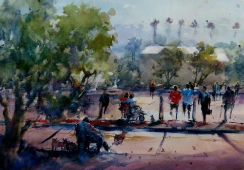 Jurors Commendation - From Poway Train Station by Nancy Oleksa