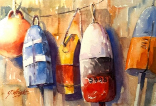 Lobster Buoys by Jami Wright