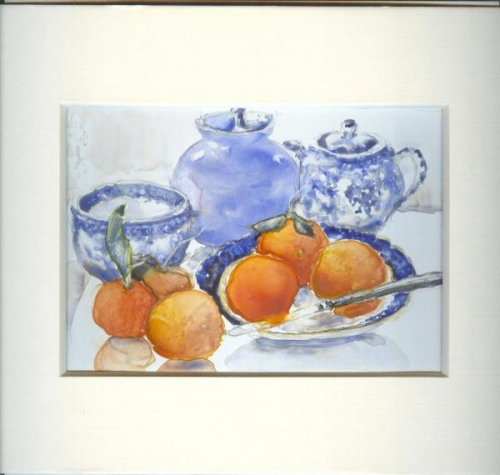 Oranges and Blues by Susan Weinberg-Harter
