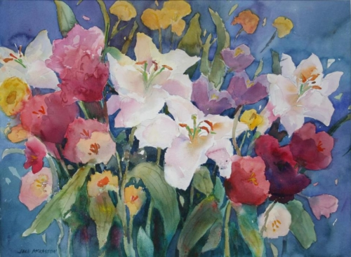 Third Place - Spring Flowers in the Garden by Joan McKasson