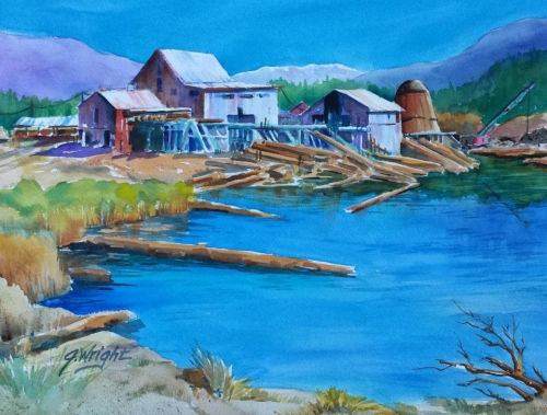 The Old Shasta Valley Lumber Mill by Jami Wright