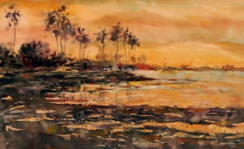 Mission Bay Sunset by Bruce Swart
