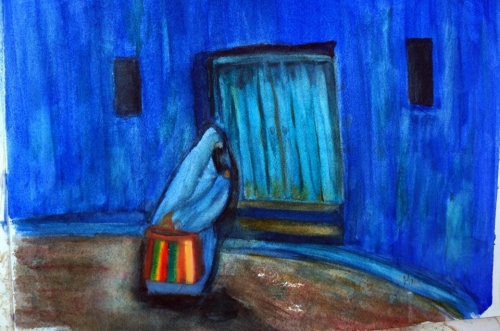 Painting the Blues by Mary Ann Rogers