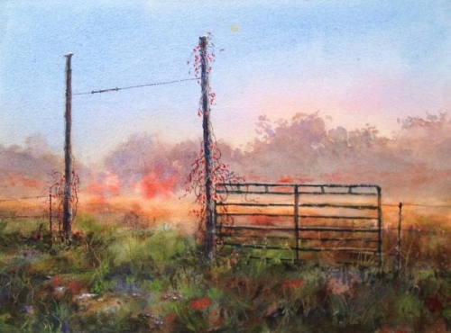 Fog Beyond the Pasture Gate by Drew  Bandish