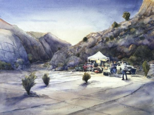 Honorable Mention - Baja 1000-Matomi Pit by Mike Hefner